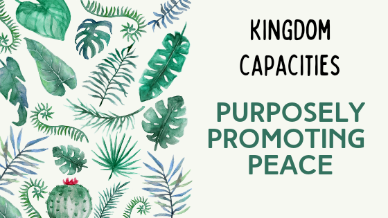 Kingdom Capacities – Purposely Promoting Peace